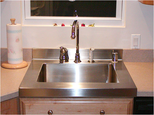 Custom Fabricated Metal Drop in Sink for Kitchen or Bath