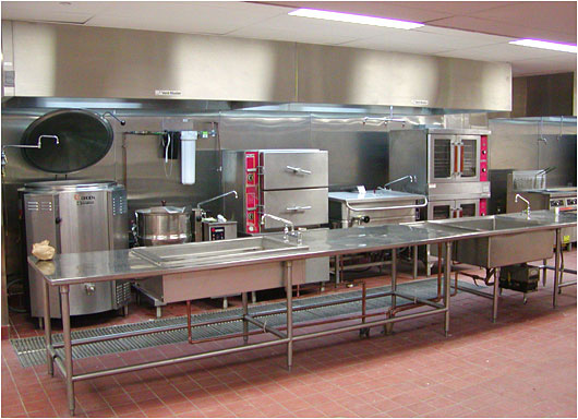 Restaurant Kitchen Work Tables steel work table with bain marie fabrication for food preparation